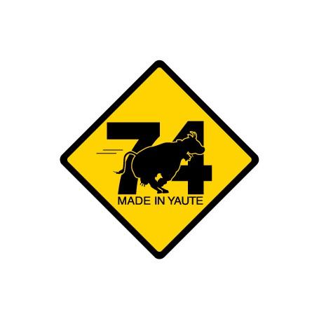 roadsign vache 74