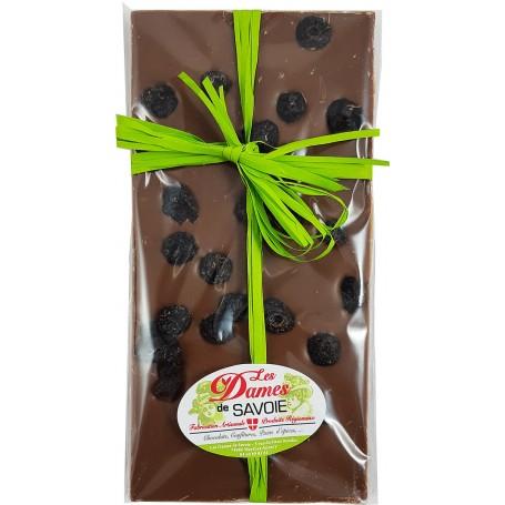 chocolat lait myrtilles séchées savoie