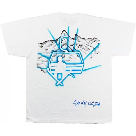 tee-shirt télésiège montagne sly art custom