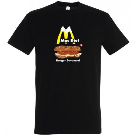 tee-shirt mac diot le burger savoyard