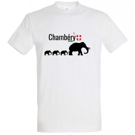 tee-shirt Chambéry Savoie éléphants