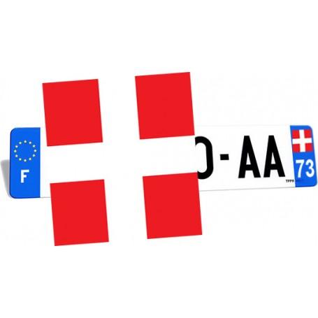 Autocollant logo Savoie pour plaque d'immatriculation