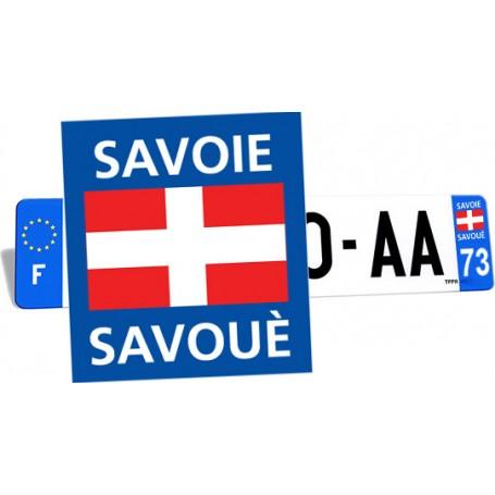 autocollant plaque d'immatriculation bilingue savoie savouè