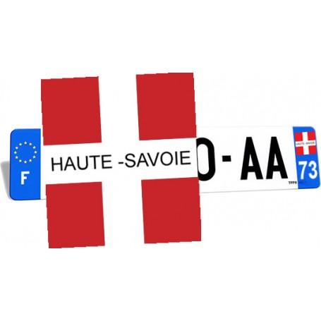 Autocollant Croix de Savoie pour plaque d'immatriculation
