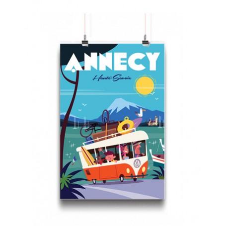 Affiche Annecy en van