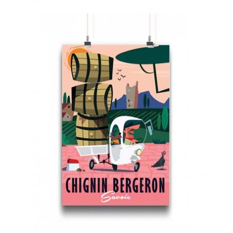 Affiche vin Chignin Bergeron