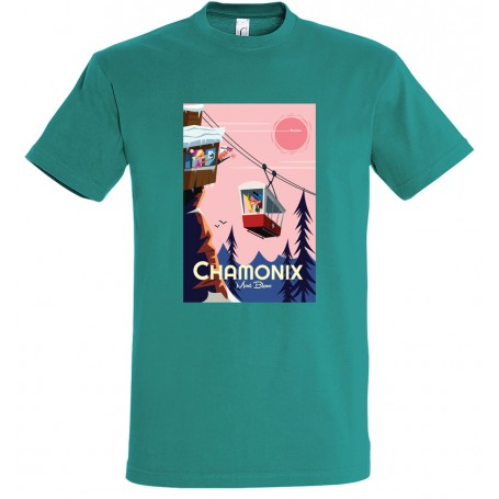 Tee-shirt Chamonix téléphérique