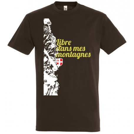 tee-shirt savoie libre dans mes montagnes