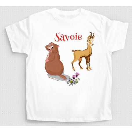 T-shirt marmotte + chamois
