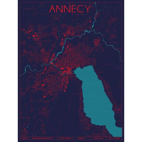 Affiche Annecy - Haute-Savoie - Rémi Supper